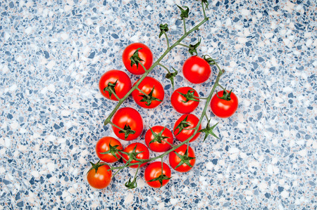 tabletop: Cherry tomatoes on tabletop Stock Photo