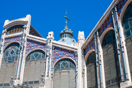 mercado central: VALENCIA, SPAIN - JULY 02, 2015: Hall of Central Market (Mercado Central) in Valencia, Spain. One of the oldest European market.