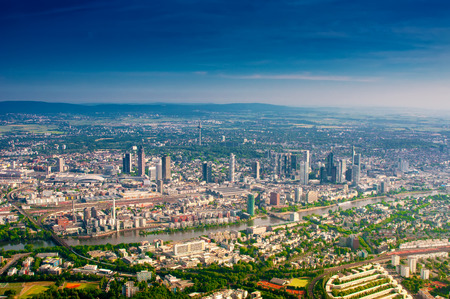 fly: Aerial view of Frankfurt Main