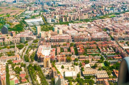 valencia: Aerial view on Valencia, Spain