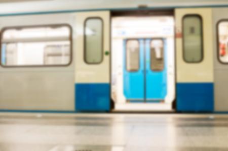 blur subway: Subway train. Blur background Stock Photo