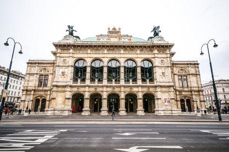 View of Vienna State Opera House Staatsoper in Vienna, Austria
