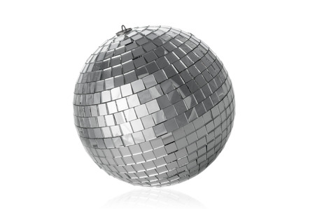 dancefloor: Disco ball on white background Stock Photo