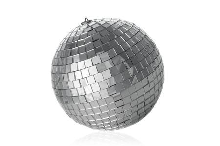 mirrorball: Disco ball on white background Stock Photo