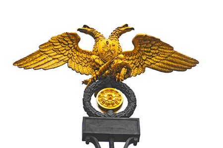 double headed eagle: Double headed eagle  the Russian national emblem Stock Photo