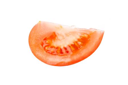tomato slice: Slice tomato isolated on white background
