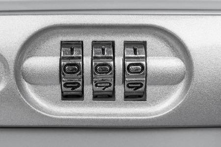 secret code: Secret code on briefcase closeup