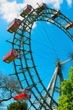 prater: Giant Ferris Wheel in Prater Park in Vienna, Austria