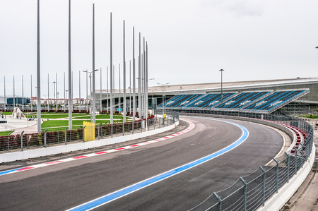 olympic: Stadium for racing at Olympic Park in Sochi Editorial