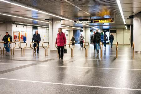stephansplatz: Ticket machines at metro station Stephansplatz in Vienna, Austria