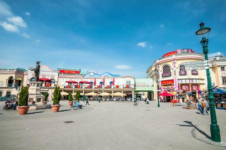 prater: VIENNA, AUSTRIA - APRIL 23, 2016: Prater Park is the famous amusement park in Vienna