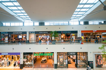 VIENNA, AUSTRIA - APRIL 21, 2016: Danube Center shopping mall (Donau Zentrum)