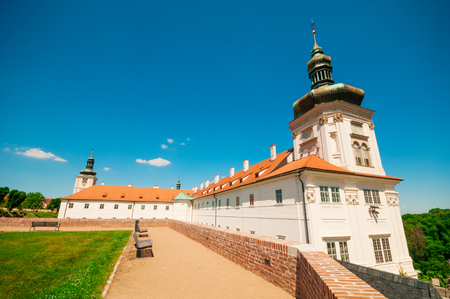 jesuit: Courtyard at the Jesuit College in Kutna Hora, Czech Republic