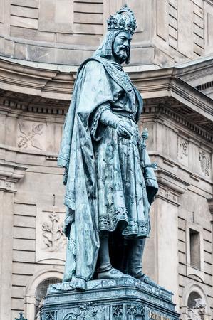 iv: Statue of Charles IV in Prague, Czech Republic