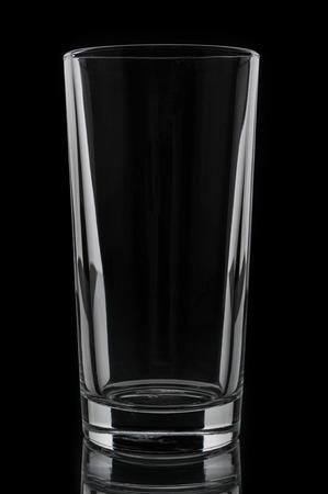 tumbler: Glass tumbler on black background