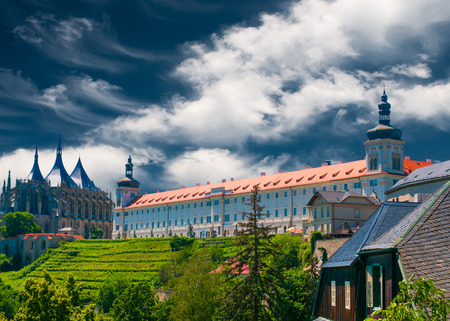 View on Cathedral of St. Barbara in Kutna Hora, Czech Republic