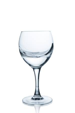 Glass with clear water on white background Stock Photo