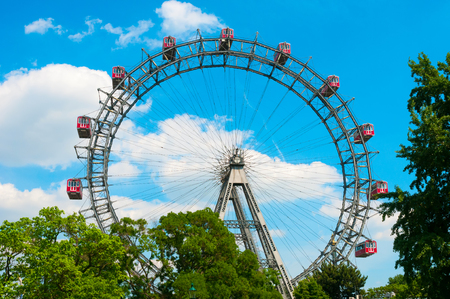 Giant Ferris Wheel at Prater Park in Vienna, Austria