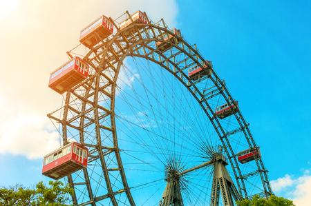 Giant Ferris Wheel against blue sky in Vienna, Austria Reklamní fotografie