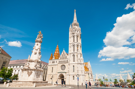 bastion: BUDAPEST, HUNGARY- JUNE 05, 2017:  Matthias church in Buda Castle