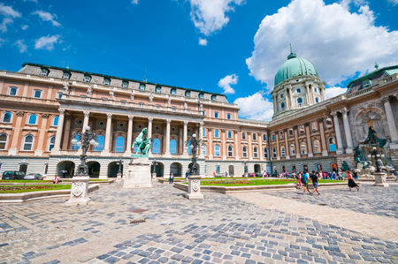 BUDAPEST, HUNGARY- JUNE 05, 2017: Courtyard of the Budapest Royal Palace Editorial