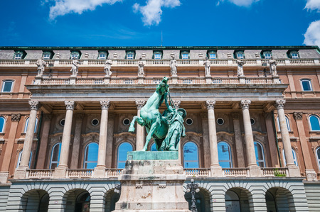 Statue of the Csikos at Buda Royal Palace in Budapest, Hungary