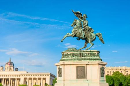 Equestrian monument of Archduke Charles on Heldenplatz in Vienna, Austria