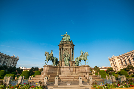 Maria Theresia monument in front of the Kunsthistorisches museum in Vienna, Austria.  Editorial