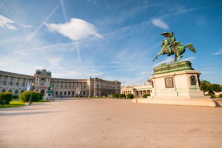 Equestrian monument of Archduke Charles on Heldenplatz in Vienna, Austria Editorial