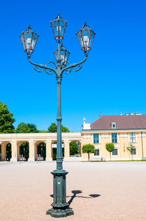 Lamppost in Schonbrunn Palace in Vienna, Austria Stock Photo