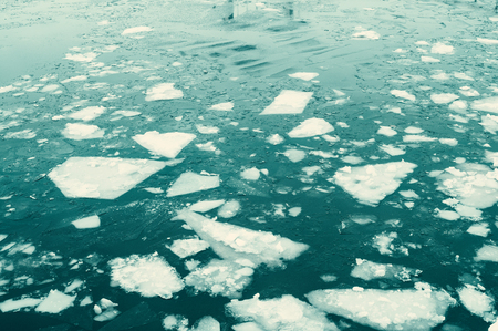 Ice floes on a river Stockfoto