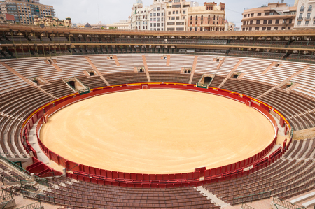 Bull ring arena in Valencia, Spain