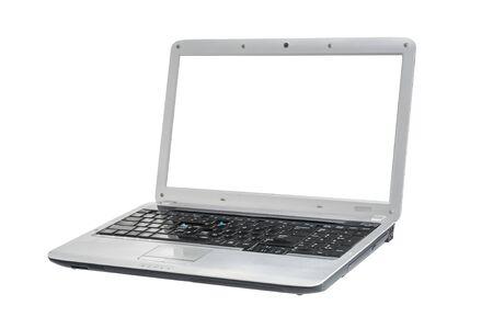 Computer portatile usato isolato su sfondo bianco