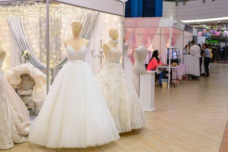 BEKESCSABA, HUNGARY - JAN 18, 2019: Wedding exhibition at the Csaba Center