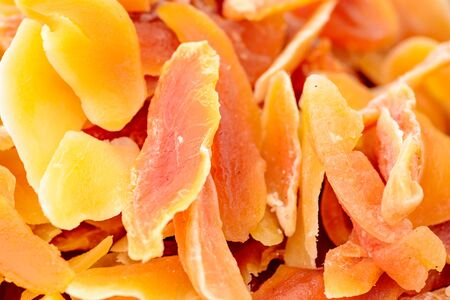 Dried fruits in background or texture mode, close-up.