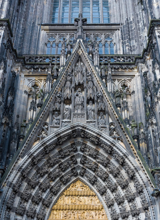 cologne: Detail of Gothic dome of Cologne cathedral in Cologne, Germany