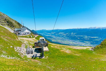 Cable car station on Seegrube mountain in Innsbruck Stock Photo