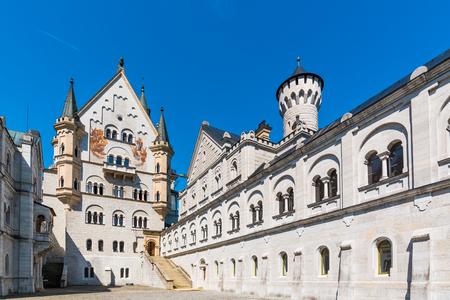 Schwangau, Germany - 24 June 2016:  Inside of Neuschwanstein castle, The famous tourist travel destination. The castle is in Hohenschwangau near the Fussen town. Editorial
