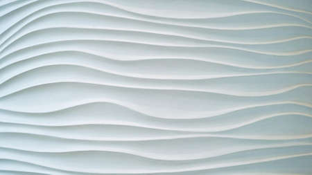 Gypsum texture.White wavy background. Interior wall decoration or panel pattern. white background of abstract waves. 版權商用圖片