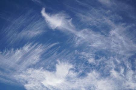 Soft spindrift clouds.Natural cloudy sky backdrop.Spring clouds texture.