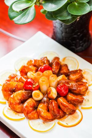 explosive: Explosive shrimp Stock Photo