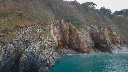 Breton coast view of the sea, turquoise sea Stock Photo