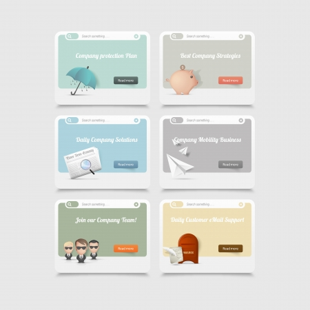 web design company: Design elements concept icons Illustration