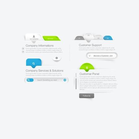 site web: Elementi di navigazione del menu template design del sito web