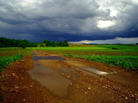 Dark clouds photo