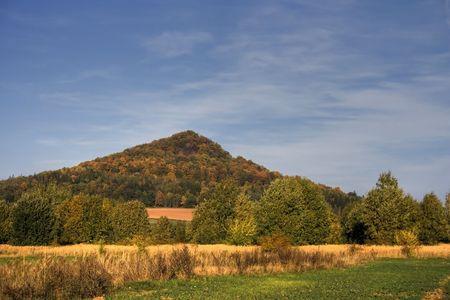 Autumn hill Stock Photo
