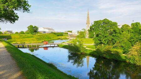 The pond in the Churchill park, Copenhagen