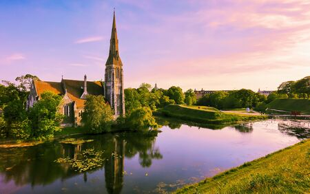 St.Albans Church located in the Churchill park, Copenhagen Imagens
