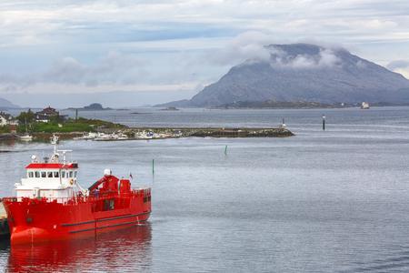 Brufjord in the Norwegian town Floroe