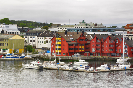 The view of the Norwegian town Floroe